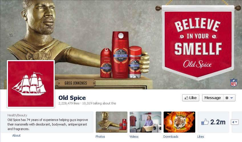 Oldspice Facebook Page