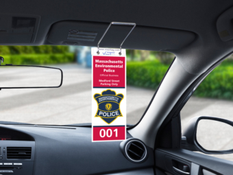 Massachusetts Environmental Police – Parking Tags