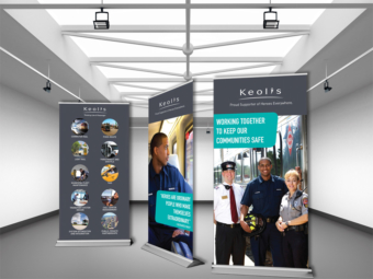 Keolis Commuter Rail – Retractable Bannerstands