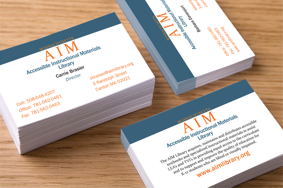 AIM Library Business Cards