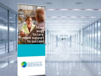 Cooperative for Human Services – Retractable Bannerstand