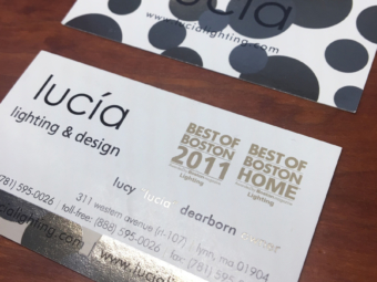 Lucia Lighting & Design – Business Cards