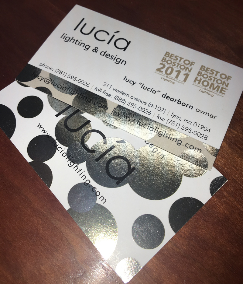 Lucia Foil Business Card