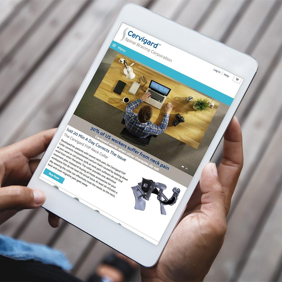 Cervigard iPad Responsive Website