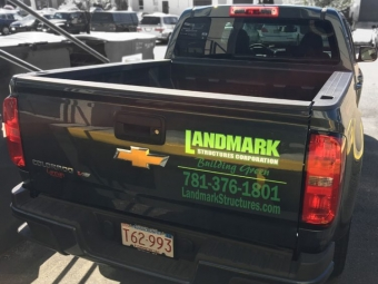 Landmark Structures Corporation – Truck Vinyl Decal
