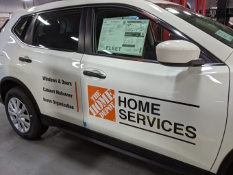 Home Depot Vinyl Graphic Application at Kelly Nissan